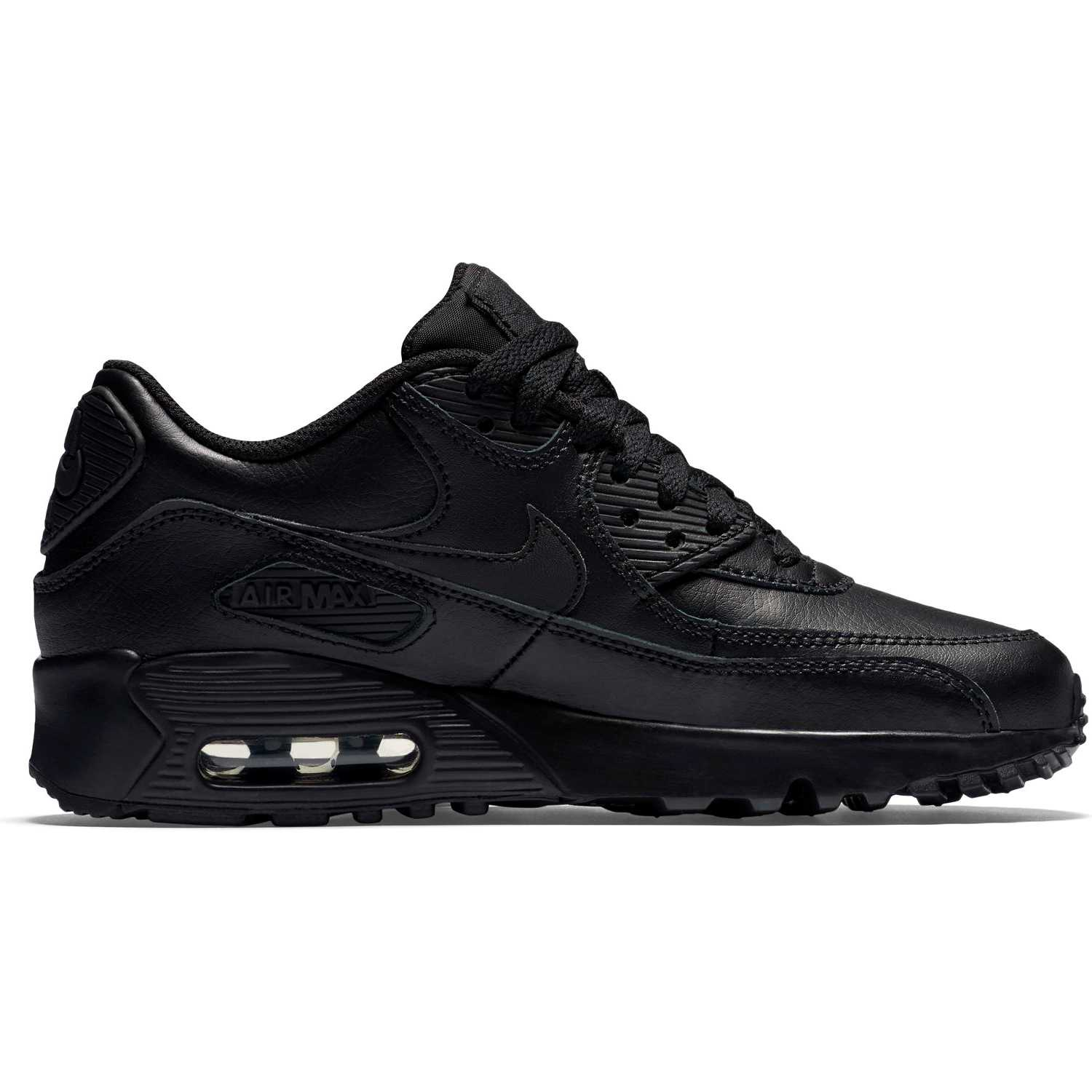 new arrival bf546 caba3 BUTY JUNIOR LIFESTYLE NIKE AIR MAX 90 LEATHER CZARNE 833412-001 ...