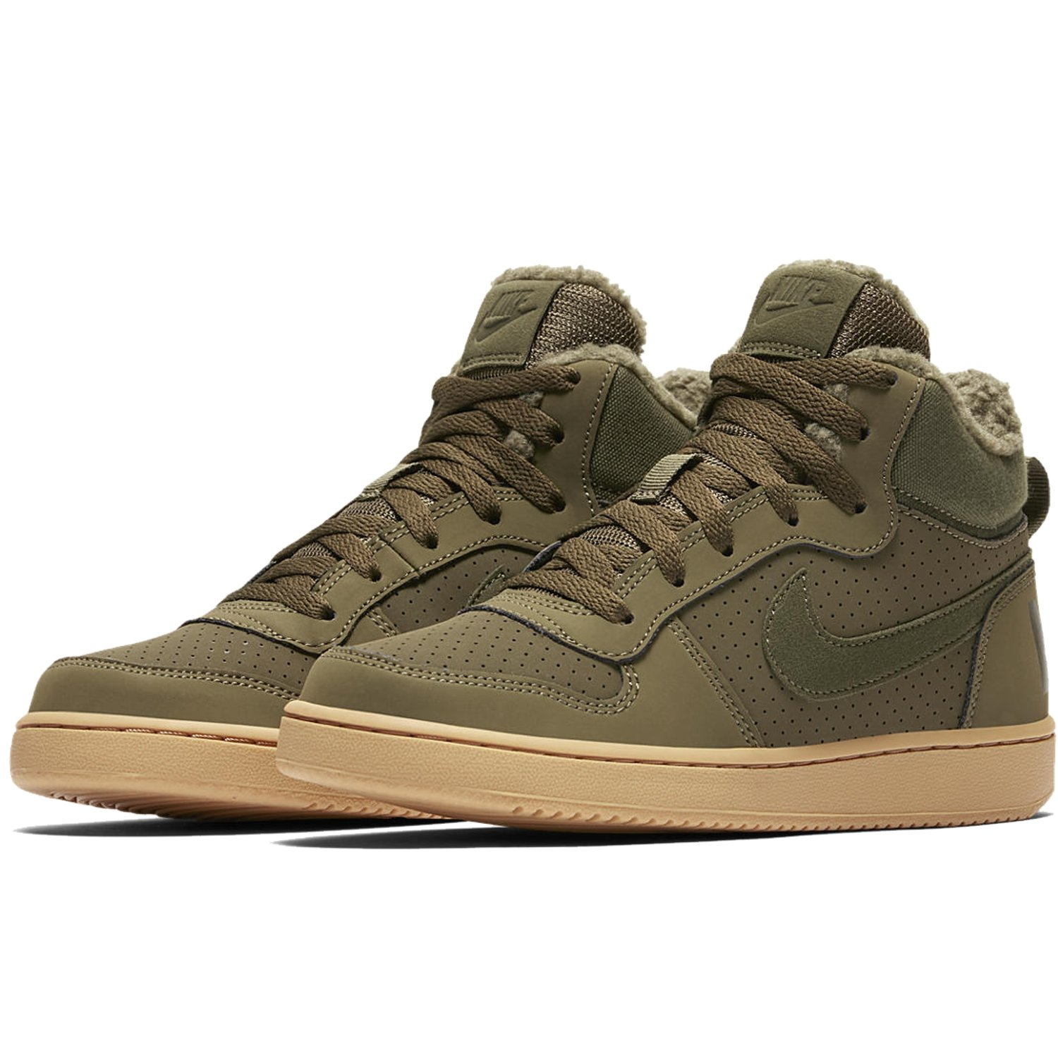 BUTY JUNIOR NIKE COURT BOROUGH MID WINTER ZIELONE AA3458-300 (GS)