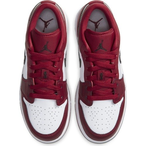 BUTY JUNIOR AIR JORDAN 1 LOW (GS) CZERWONE 553560-604