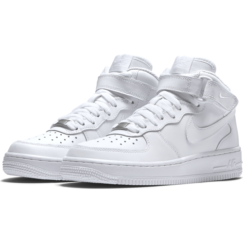 BUTY JUNIOR NIKE AIR FORCE 1 MID (GS) BIAŁE 314195-113