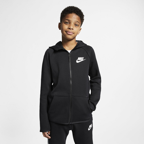 KURTKA JUNIOR NIKE TCH FLC FZ ESSENTIALS CZARNA AR4020-010